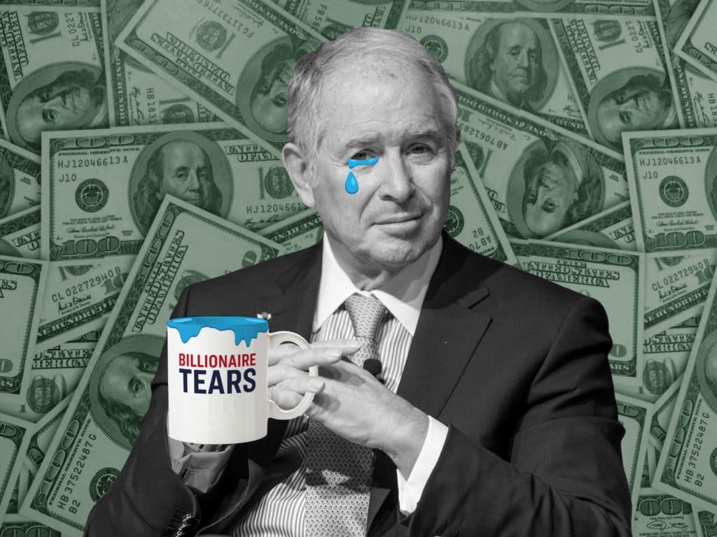 Schwarzman billionaire tears